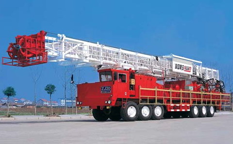 Truck-mounted drilling rig